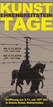 11. Ehrenbreitsteiner Kunsttage - am 3. und 4. November 2018 in Koblenz!